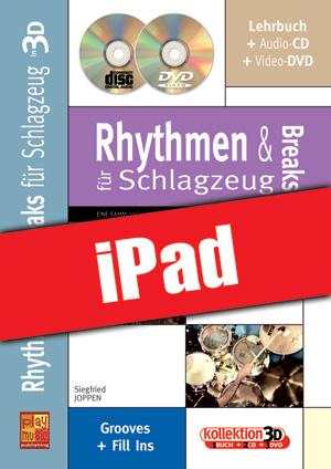 Rhythmen und Breaks für Schlagzeug in 3D (iPad)