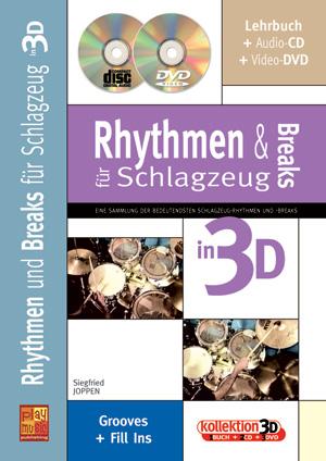 Rhythmen und Breaks für Schlagzeug in 3D