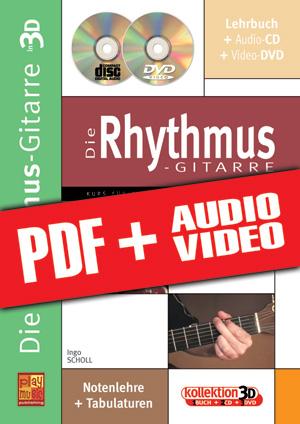 Die Rhythmus-Gitarre in 3D (pdf + mp3 + videos)