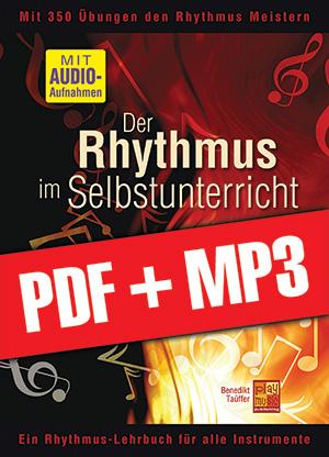 Der Rhythmus im Selbstunterricht - Bassgitarre (pdf + mp3)