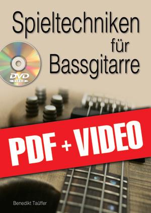 Spieltechniken für Bassgitarre (pdf + videos)