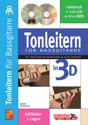 Tonleitern für Bassgitarre in 3D