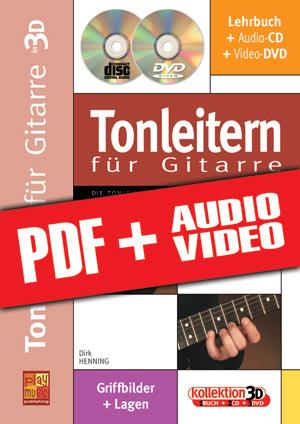 Tonleitern für Gitarre in 3D (pdf + mp3 + videos)
