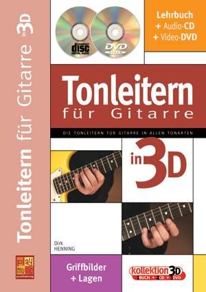 Tonleitern für Gitarre in 3D