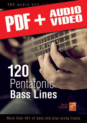 120 Pentatonic Bass Lines (pdf + mp3 + videos)
