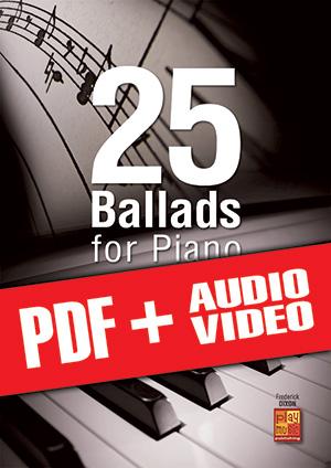 25 Ballads for Piano (pdf + mp3 + videos)