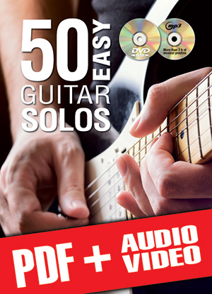 50 Easy Guitar Solos (pdf + mp3 + videos)