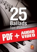 25 Ballads for Piano (pdf + mp3 + videos)