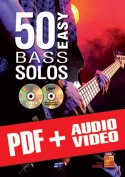 50 Easy Bass Solos (pdf + mp3 + videos)