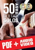 50 Easy Guitar Solos (pdf + mp3 + videos)