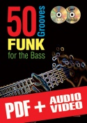 50 Funk Grooves for the Bass (pdf + mp3 + videos)