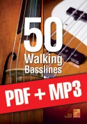 50 Walking Basslines (pdf + mp3)
