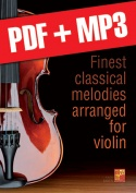 Finest classical melodies arranged for violin (pdf + mp3)