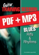 Guitar Training Session - Blues Riffs & Rhythms (pdf + mp3)