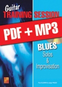 Guitar Training Session - Blues Solos & Improvisation (pdf + mp3)