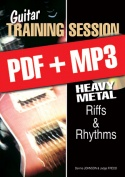 Guitar Training Session - Heavy Metal Riffs & Rhythms (pdf + mp3)