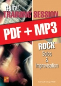 Guitar Training Session - Rock Solos & Improvisation (pdf + mp3)