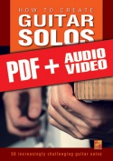 How to create guitar solos (pdf + mp3 + videos)