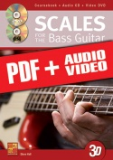 Scales for the Bass Guitar in 3D (pdf + mp3 + videos)