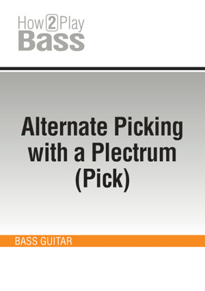 Alternate Picking with a Plectrum (Pick)