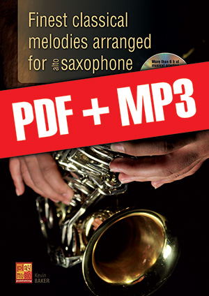 Finest classical melodies arranged for saxophone (pdf + mp3)